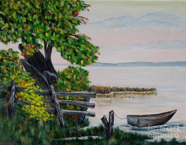 Painting - A Boat Waiting 2 by Marilyn  McNish