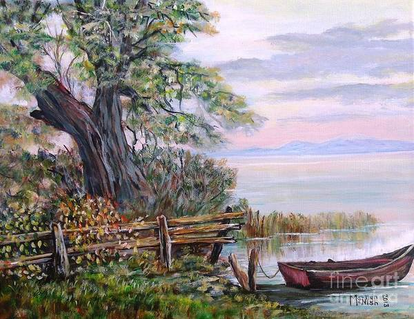 Painting - A Boat Waiting 3 by Marilyn  McNish