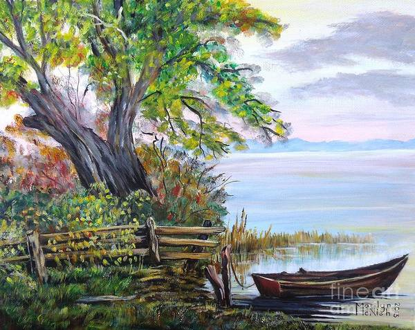 Painting - A Boat Waiting 4 by Marilyn  McNish