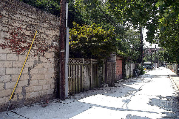 Photograph - A Alleyway On Bolton Hill  by Walter Neal