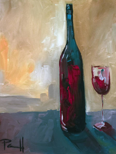 Painting - A Bottle Of Red... by Sean Parnell