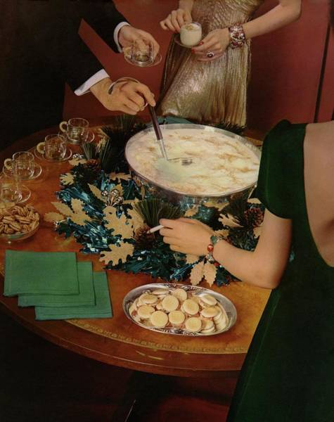 Male Photograph - A Bowl Of Eggnog by Anton Bruehl