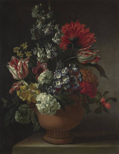 Wall Art - Painting - A Bowl Of Flowers by Marie Blancour