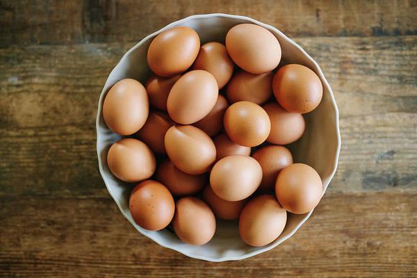 Free Range Photograph - A Bowl Of Fresh Free Range Eggs by Laura Kate Bradley