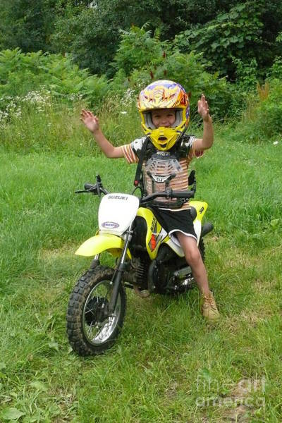 Dirtbike Photograph - A Boy And His Dirtbike 2 by Betsy Cotton