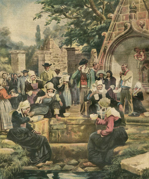Wall Art - Drawing - A Breton 'pardon' At Baud,  Where by Mary Evans Picture Library