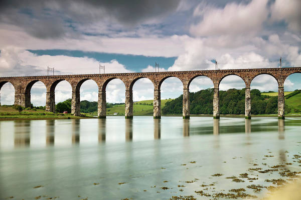 Berwick Upon Tweed Photograph - A Bridge With Arches Reflected by John Short
