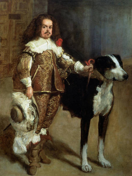 Clown Painting - A Buffoon Sometimes And Incorrectly Called Antonio The Englishman by Diego Rodriguez de Silva y Velazquez