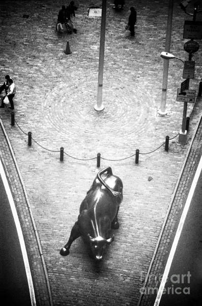 Wall Art - Photograph - A Bull On Wall Street 1990s by John Rizzuto