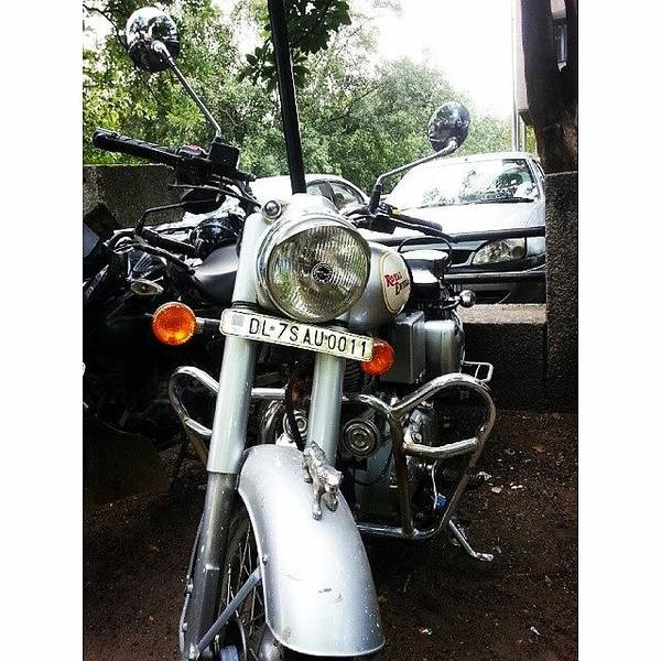 Jaguar Photograph - A #bullet #motorcycle Uses A #fake by Ankit Agrawal