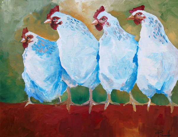 Painting - A Bunch Of Old Clucking Hens by Sean Parnell