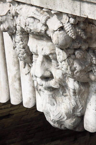 Stone Carving Wall Art - Photograph - A Bust Carving On Pont Neuf, Paris by William Sutton