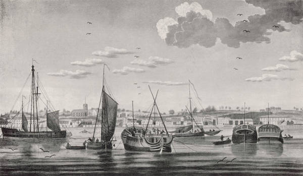 Wall Art - Drawing - A Busy Scene At Woolwich  Dockyard by Mary Evans Picture Library