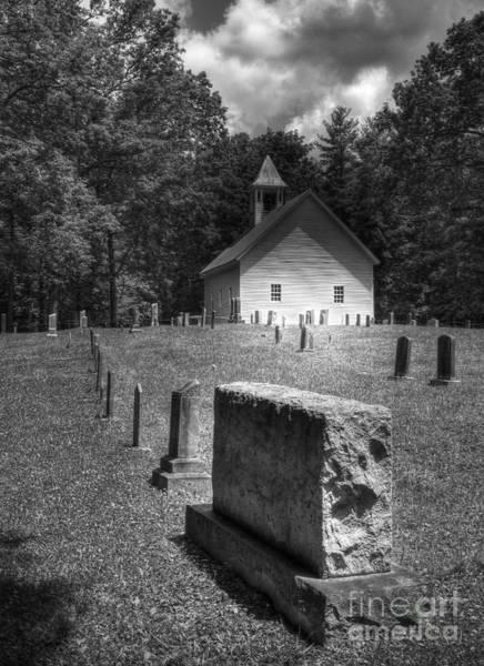 Photograph - A Cade's Cove Church by Mel Steinhauer