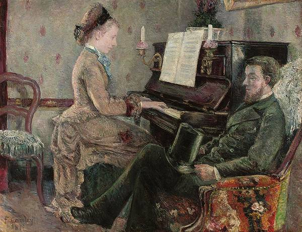 Piano Key Painting - A Captive Audience by Frederic Samuel Cordey