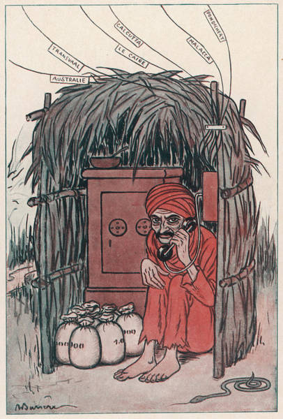 Wall Art - Drawing - A Cartoon On The Subject Of Mahatma by Mary Evans Picture Library