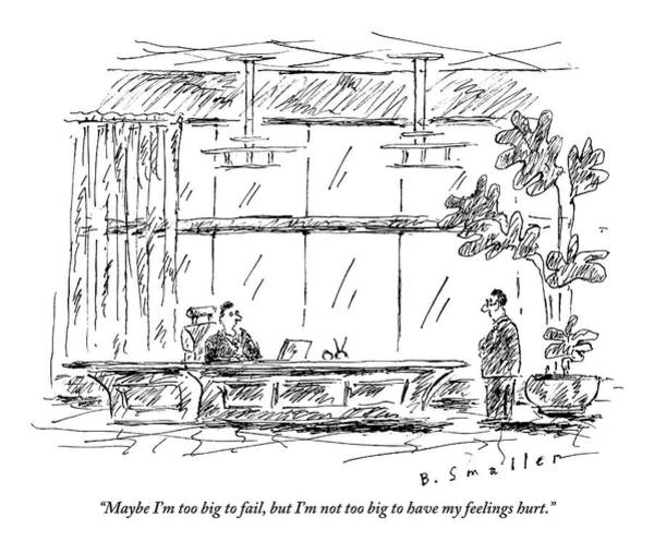 Plant Drawing - A Ceo Bemoans His Feelings To His Employee Who by Barbara Smaller
