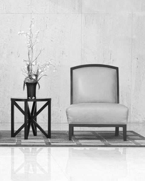 Photograph - A Chair And A Table With A Plant  by Rudy Umans
