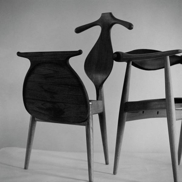 Furniture Photograph - A Chair Designed By Hans Wegner by Horst P. Horst