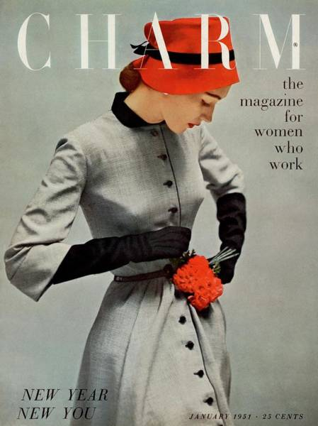 Old People Photograph - A Charm Cover Of A Model Wearing A Coatdress by Carmen Schiavone