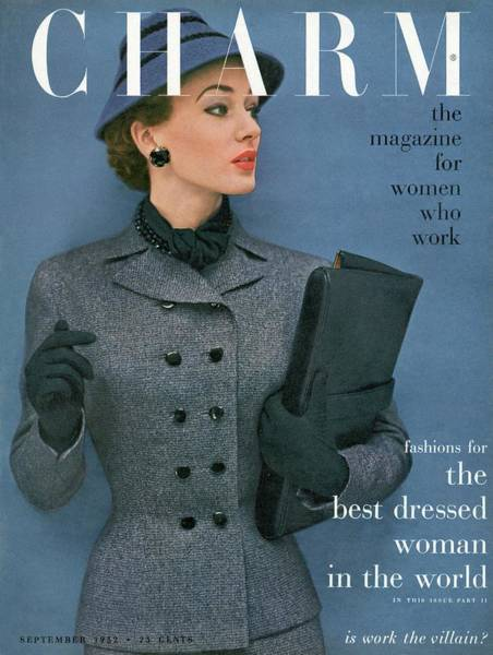 Old People Photograph - A Charm Cover Of A Model Wearing A Tweed Suit by Carmen Schiavone