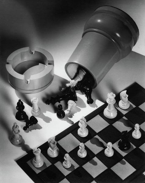 Home Accessories Photograph - A Chess Set by Maurice Seymour