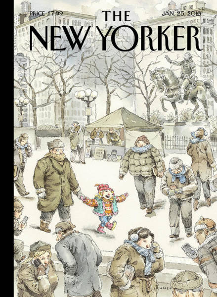 News Painting - Winter Delight by John Cuneo