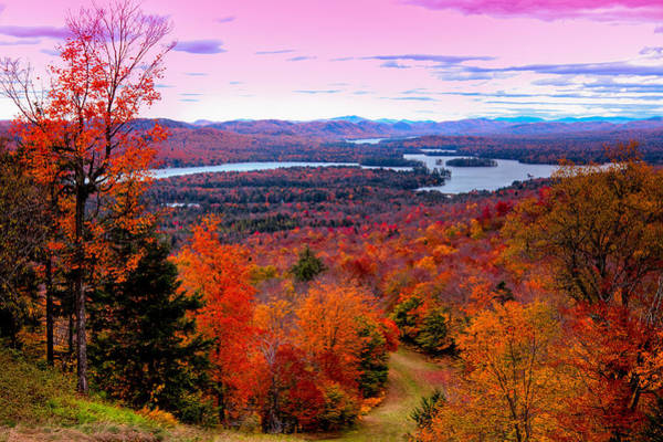 David Patterson Photograph - A Chilly Autumn Day On Mccauley Mountain by David Patterson