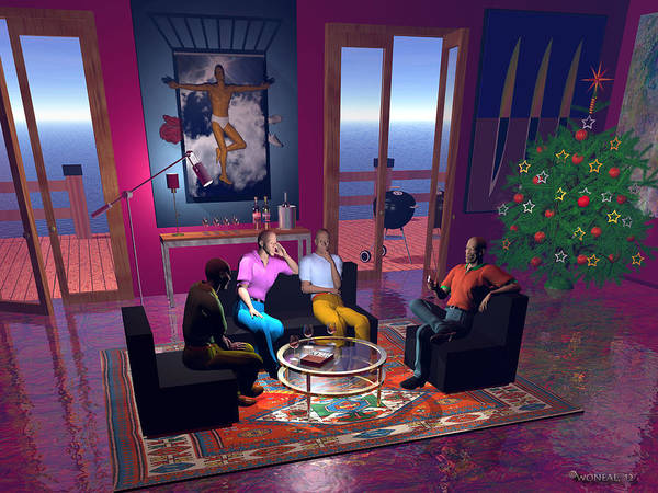 Deck Digital Art - A Christmas Gathering by Walter Neal