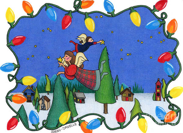 Wall Art - Painting - A Christmas Scene by Sarah Batalka