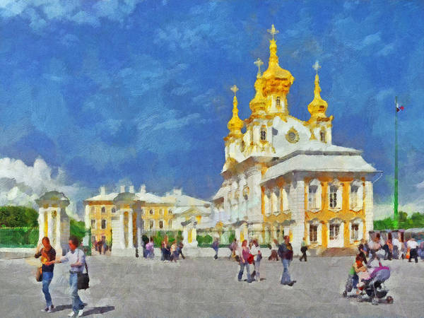 Digital Art - A Church At Peterhof by Digital Photographic Arts