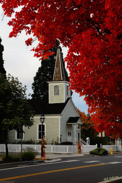 Rogue Valley Photograph - A Church In Historic Jacksonville by Mick Anderson