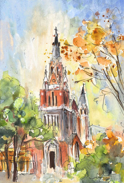 Painting - A Church In Our Street In Budapest by Miki De Goodaboom