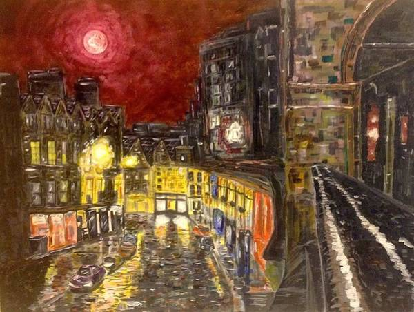 Painting - A City In Scarlet by Joel Tesch