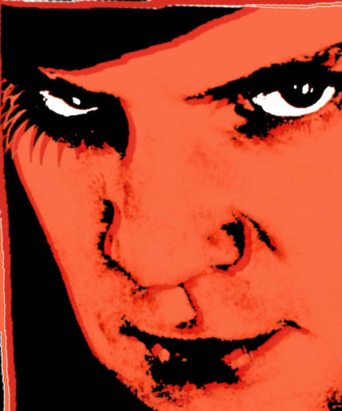 Painting - A Clockwork Orange Malcolm Mcdowell by Tony Rubino