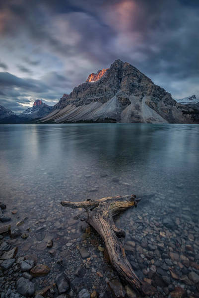 Cloudy Photograph - A Cloudy Day In Bow Lake by Michael Zheng