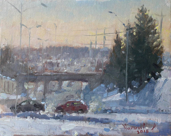 Toronto Painting - A Cold Morning by Ylli Haruni