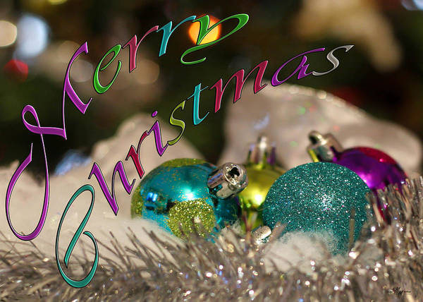 Wall Art - Photograph - A Colorful Merry Christmas by Mechala Matthews