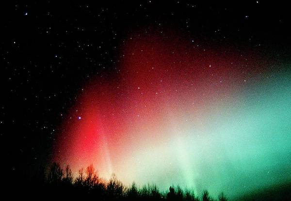 Wall Art - Photograph - A Colourful Aurora Borealis Display by Pekka Parviainen/science Photo Library