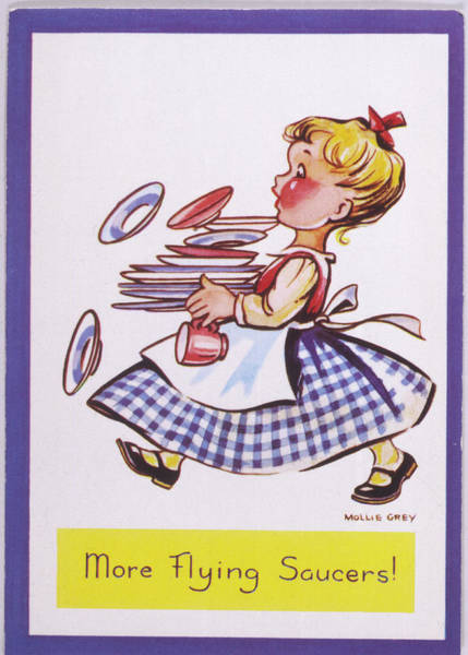 Wall Art - Drawing - A Comic Postcard From The  Early Days by Mary Evans Picture Library