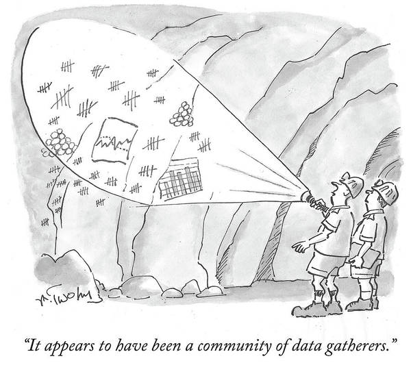 Natural Light Drawing - A Community Of Data Gatherers by Mike Twohy