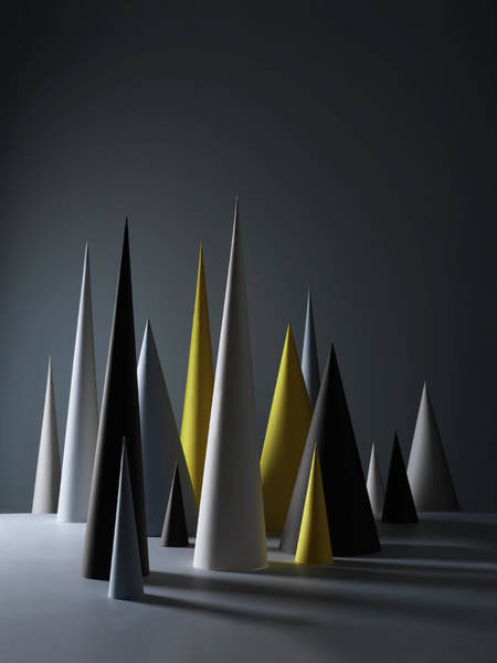 Variation Photograph - A Composition Of Tall Paper Cones by Sophie Broadbridge