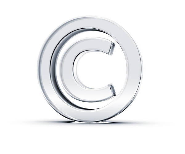 A Copyright Symbol In 3d On A White Background Art Print by Hometowncd