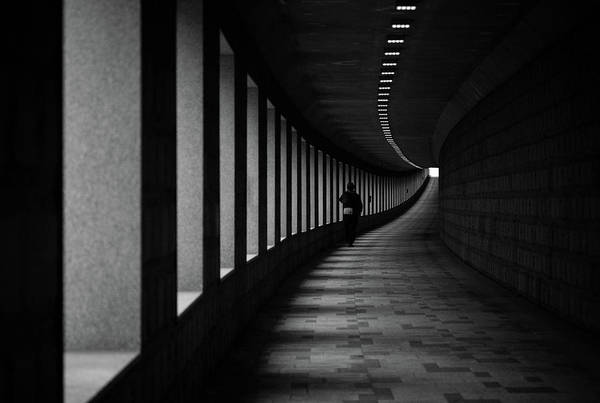 Tunnel Photograph - A Corner by Donghee, Han