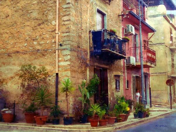 Painting - A Corner In Sicily by RC DeWinter