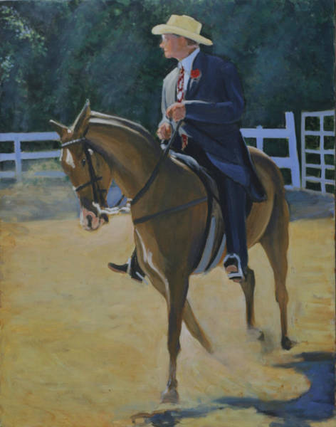 County Fair Painting - A Country Gentleman by David Zimmerman
