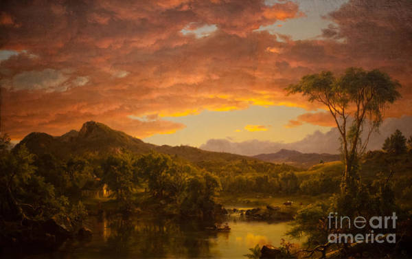 Native American Culture Painting - A Country Home by Celestial Images
