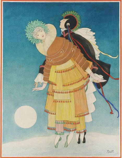 Costume Digital Art - A Couple Dancing On A Cloud by George Wolfe Plank