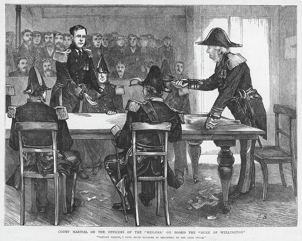 Wall Art - Drawing - A Court Martial Captain Thrupp And His by  Illustrated London News Ltd/Mar