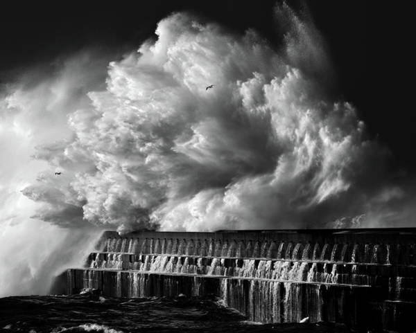 Dam Wall Art - Photograph - A Crashing Wave by Maciej Hermann